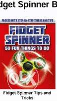 Fidget spinner toy with book