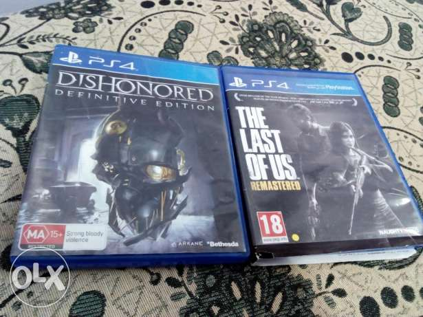 لعبتين ps4 dishonored and the last of us منيا القمح -  1