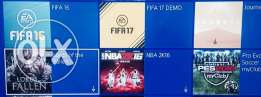 fifa 16 + nba 16 + ps plus (6-monthes) account