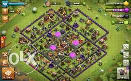Clash of clans account town hall 9