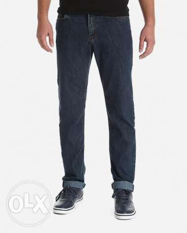 Chertex Casual Solid Jeans 42 - Denim Blue Olive بنطلون جينز