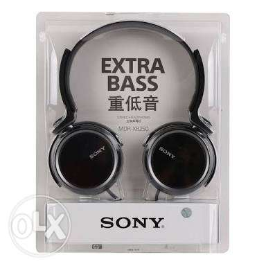 Sony stereo Headphones MDR-XB250