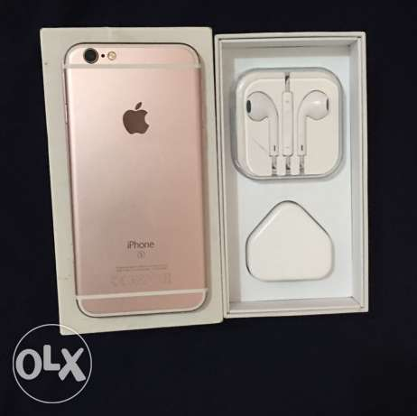 Iphone 6s 64Gb rose gold with all accessories ايفون ٦ اس ٦٤ جيجا