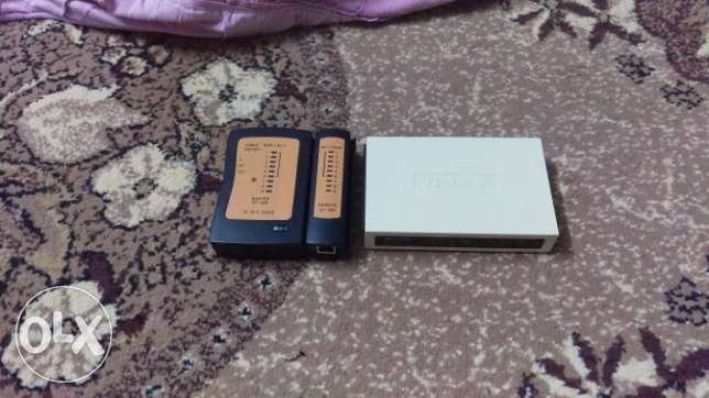 Switch 8 port & tester used one month