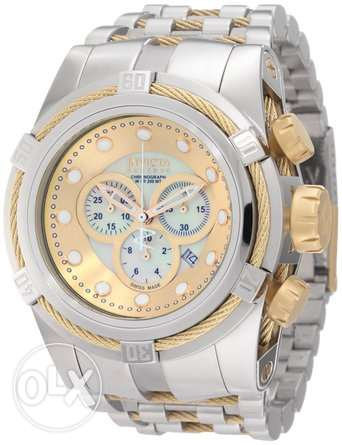Invicta Men's 0822 Reserve Chronograph Mother of Pearl Dial Stainless