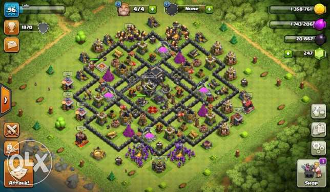 clash of clan account hall 9