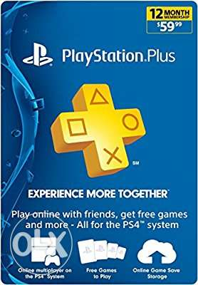 Ps plus playstation plus usa 1 year code
