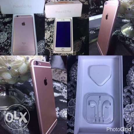 IPhone 6s Plus used like new rose gold ايفون ٦ اس روز جولد ٦٤ جيجا حي الشرق -  1