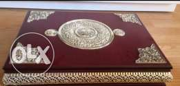 Silver plated Quran case