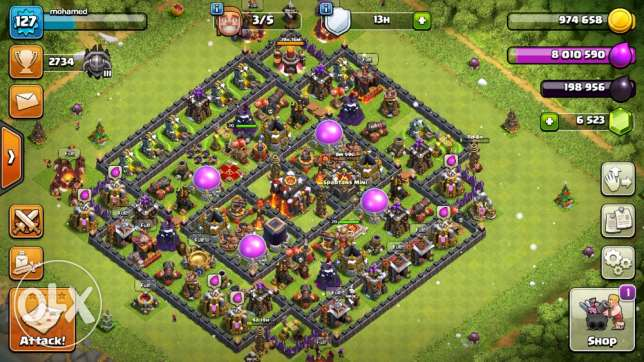 TownHall10 clash of clans level 127