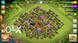 Clash of clans max th9 account/كلاش اوف كلانس