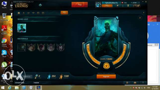 Eune Platinum V last season account 90 champ 65 skin