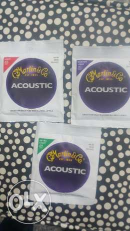 Now available Martain original strings for acoustic guitars