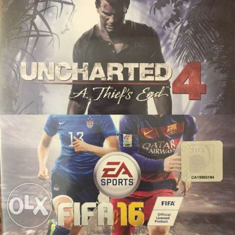 Uncharted 4 Arabic edition & Fifa 16 stander-like new(both together) 6 أكتوبر -  1
