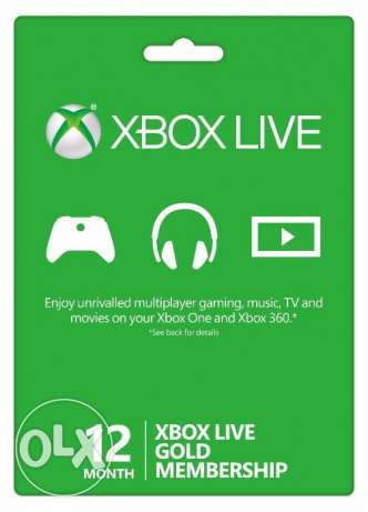 (Xbox Live Gold 12 Months (New