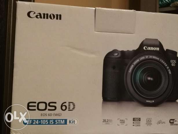 Canon 6d body only new from Saudia