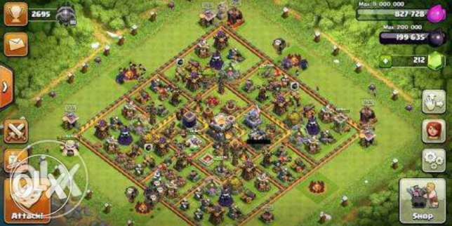 قريه كلاش او كلانس clash of clans