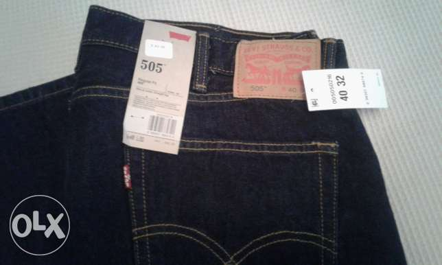 جينز أزرق غامق Men Levi Strauss 505 USA slim fit القاهرة -  1