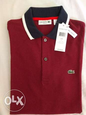 Lacoste Burgundy Slim Fit Polo Shirt