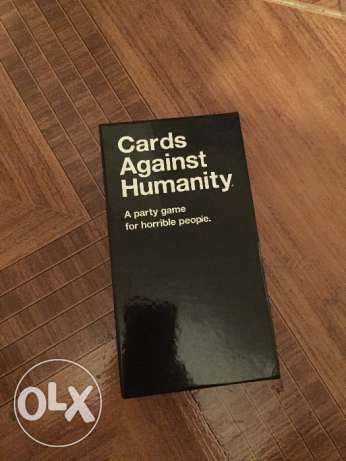 Cards against humanity game, party game