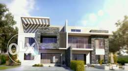 Twin house for sale in shekh zayed city