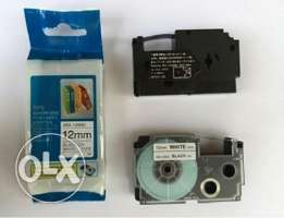 شريط طباعة الملصقات Casio Compatible Label tape 12mm XR-12WE1