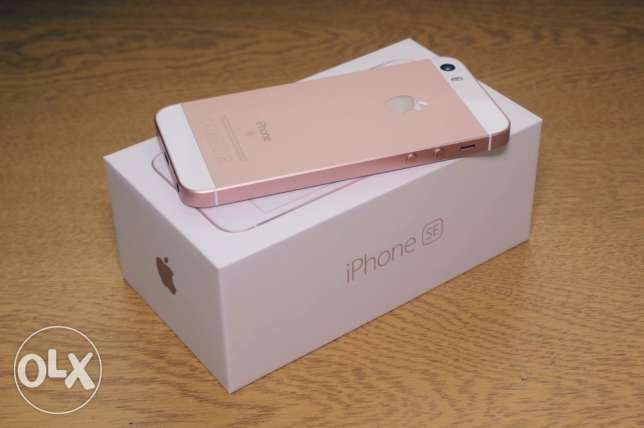 iPhone se rose gold 64g As new