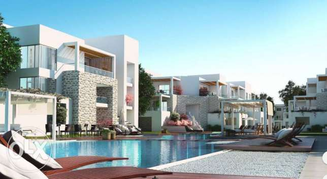 Chalet for sale at Azha with ACs and Kitchen with Installments 6 years