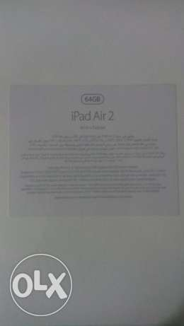 Ipad air 2 - 64 GB silver space WIFI + CELLULAR BRAND NEW الإسكندرية -  1