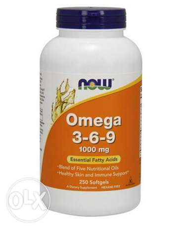 NOW Foods Omega 3-6-9 . 1000 mg, 250 Softgels