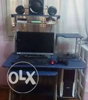 pc desk blue color