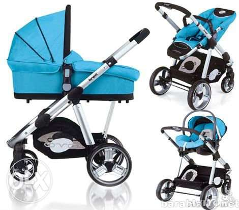 Brevi 3 in 1 travel system from Germany بربع تمنها