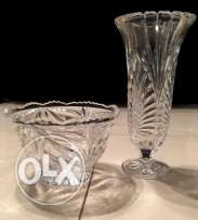 Crystal Set ( 2 Crystal vases)