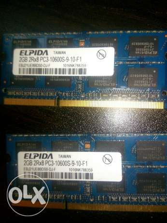 Elpida laptop Ram 2*2GBعدد ٢رامة ٤جيجا