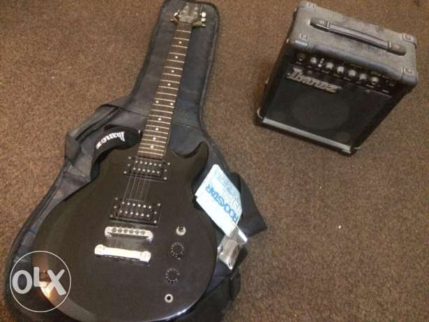 Ibanez Jumpstart | Black Solid Guitar w/ Case, Amp and Strings Set