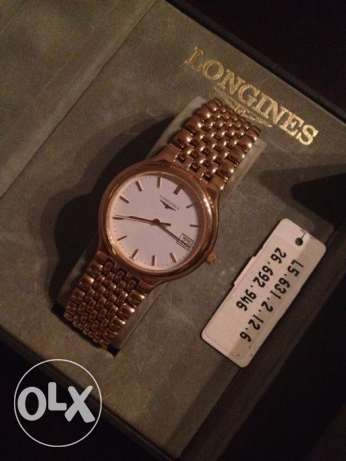 LONGINES - Gold Men's Watch ساعه لونجين