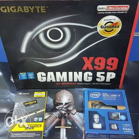 GIGABYTE G1 Gaming GA-X99-Gaming 5P + Intel® Core™ i7-5820K + CORSAIR