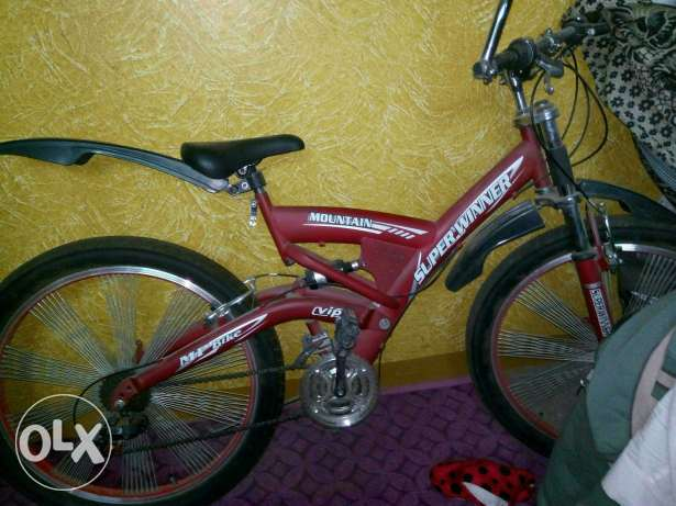 Bike 24 used like new red color شبرا -  3