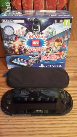 PS Vita With 3 Lego games and the walking dead, the amazing spiderman
