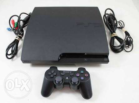 Playstation 3 with Bluetooth headset and 4 joysticks