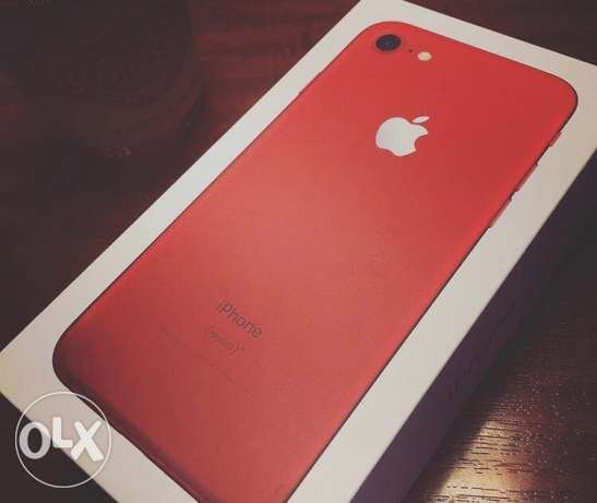 Iphone 7 RED ! the new color 128 GB. very exclusive