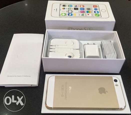 iPhone 5s Gold 16G New From KSA