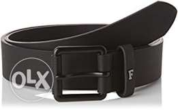 new belt french connection 100%leather black حزام