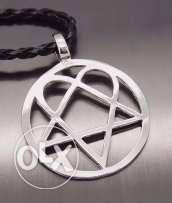 Heartagram (HIM Band) Stainless Steel Leather Necklace