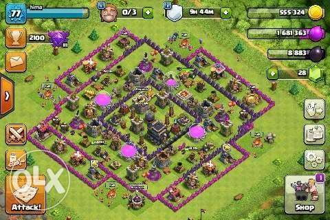 clash of clans town hall 9 clash royal areana 10