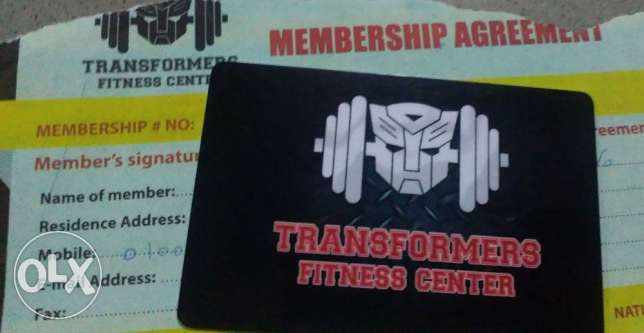 Transformers Gym 1 Year Membership