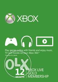 XBox Live Gold - 12 Months digtal code66