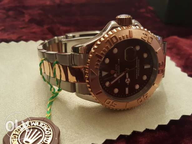 Rolex Yacht Master1 Rose-Gold first copy with box and Int. guarantee القاهرة -  4