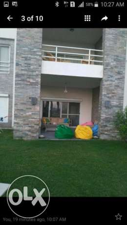 Ground chalet in AMWAJ fully finished&furnished for sale pool view