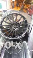 mercedes AMG 18 wheels 2 inch 8 front 9 rear